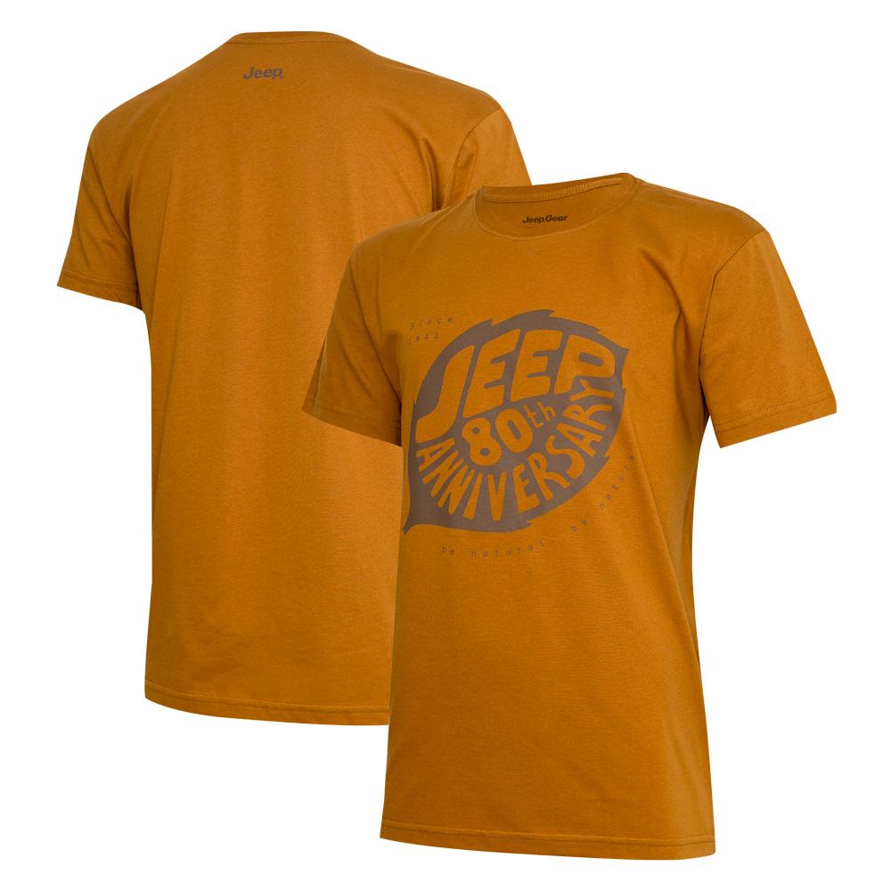 Camiseta DTG JEEP 80th Anniversary Leaf - Laranja