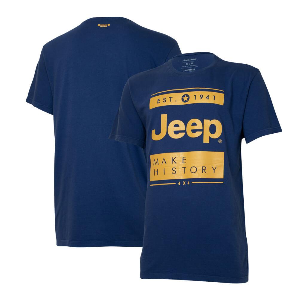 Camiseta Masc. Especial JEEP Block - Azul Marinho