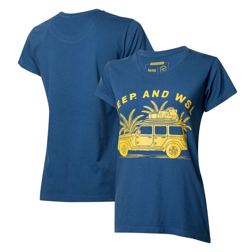 Camiseta Fem. JEEP I WSL Beach Wrangler - Azul Marinho