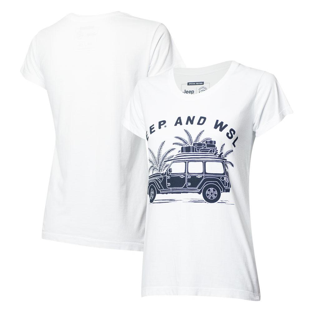 Camiseta Fem. JEEP I WSL Beach Wrangler - Branca