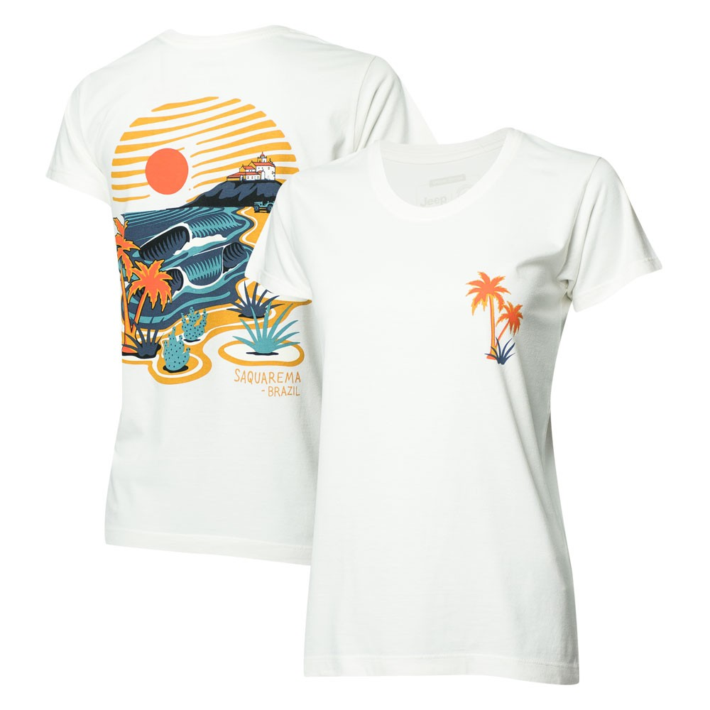 Camiseta Fem. JEEP I WSL Saquarema - Off White