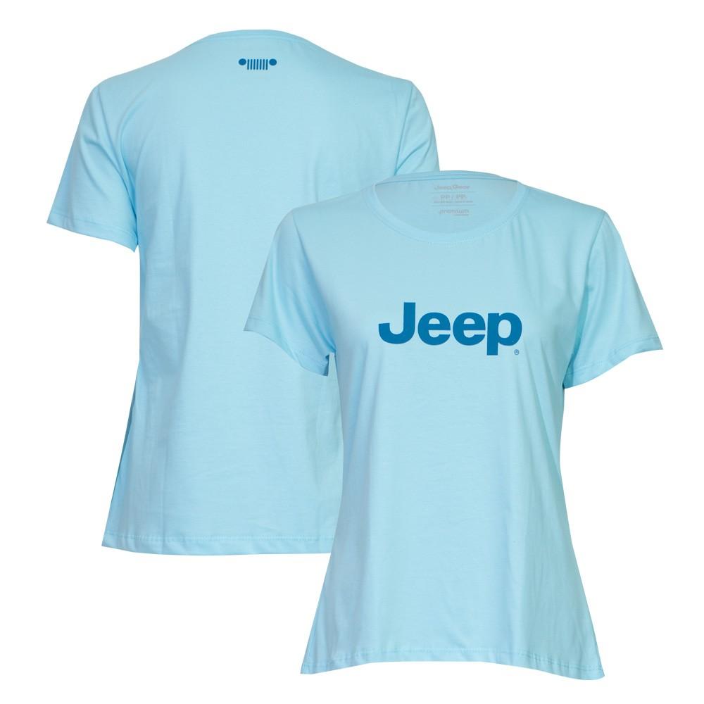 Camiseta Fem. JEEP Logo - Azul