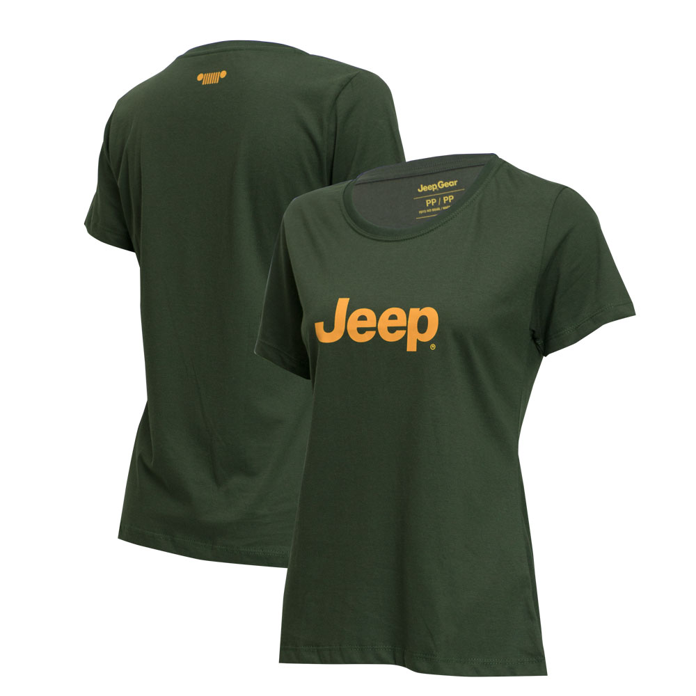 Camiseta Fem. JEEP Logo - Verde