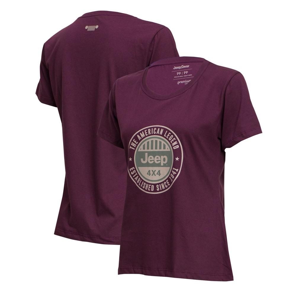 Camiseta Fem. JEEP Round - Vinho