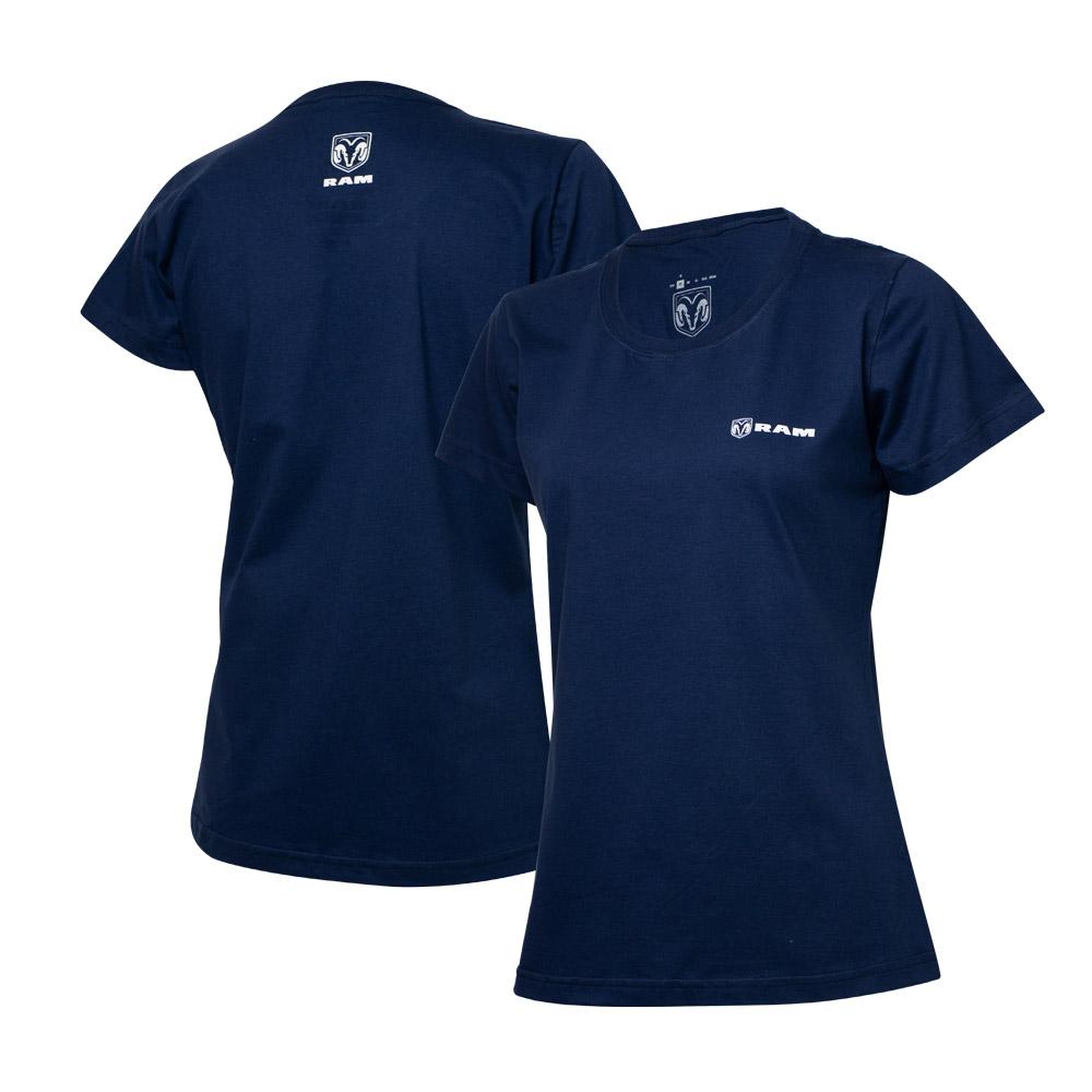 Camiseta Fem. RAM Parallel - Azul Marinho