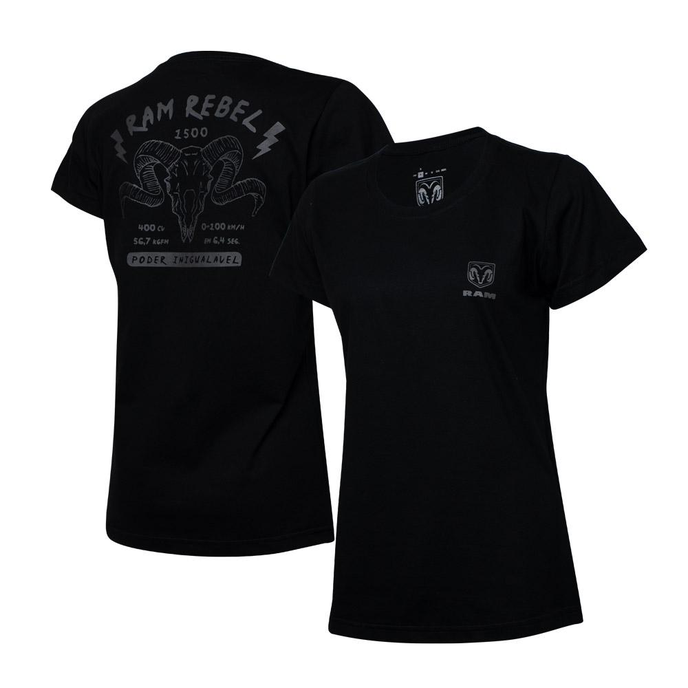 Camiseta Fem. RAM Rebel - Skull - Preta