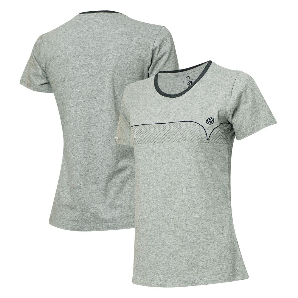 Camiseta Fem. VW Kombi Lines - Cinza