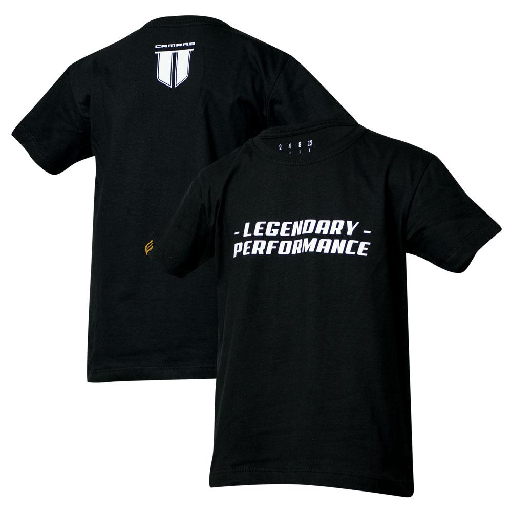 Camiseta Inf. Chevrolet Camaro Performance - Preta