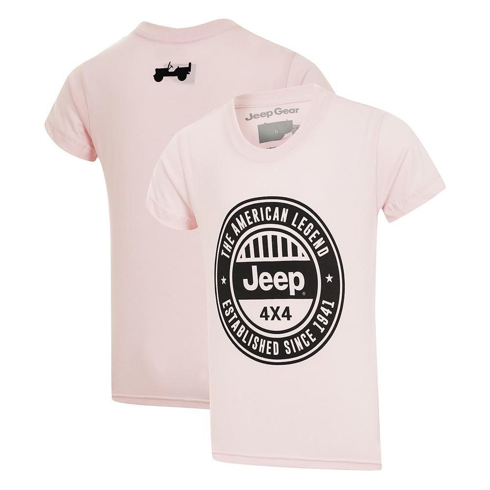 Camiseta Inf. Jeep American Legend 4x4 - Rosa