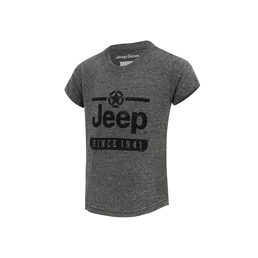 Camiseta Inf. Jeep Estrela Since 1941 - Cinza Mescla