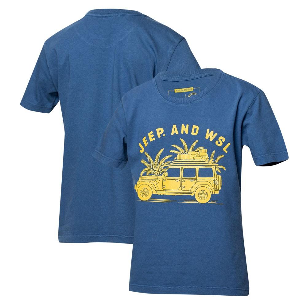 Camiseta Inf. JEEP I WSL Beach Wrangler - Azul Marinho