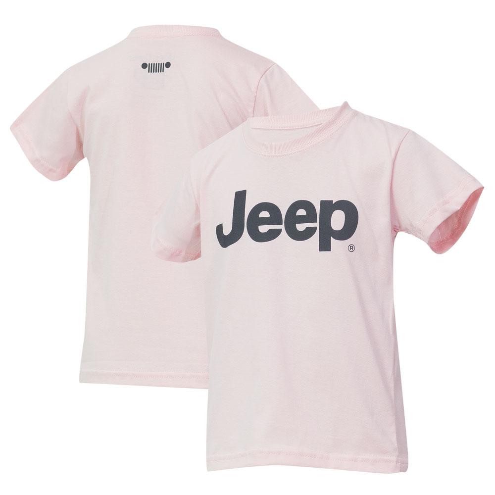 Camiseta Inf. JEEP Logo - Rosa