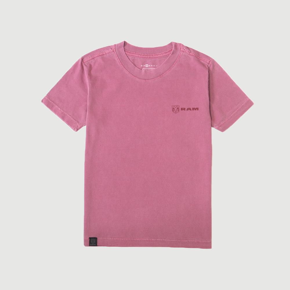 Camiseta Inf. RAM Back Print Lavada - Vinho