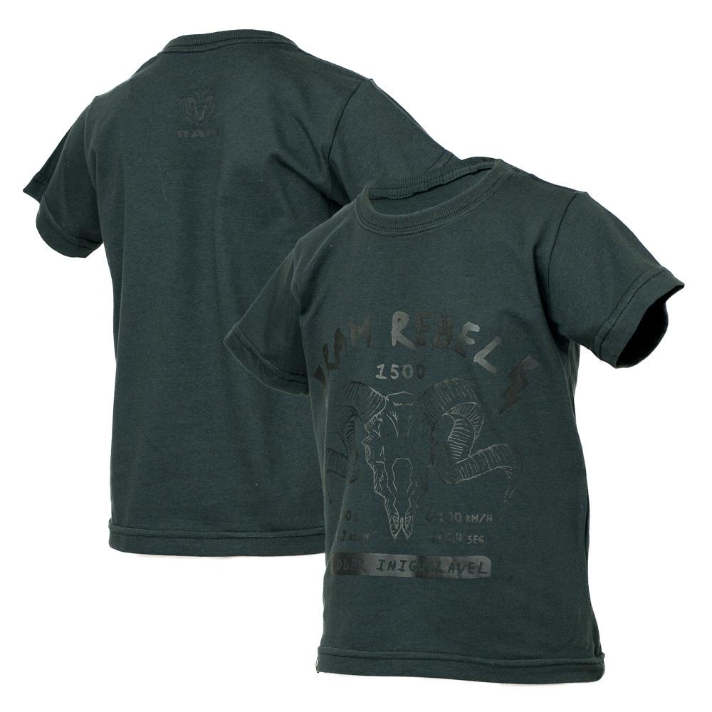 Camiseta Inf. RAM Rebel Skull - Chumbo