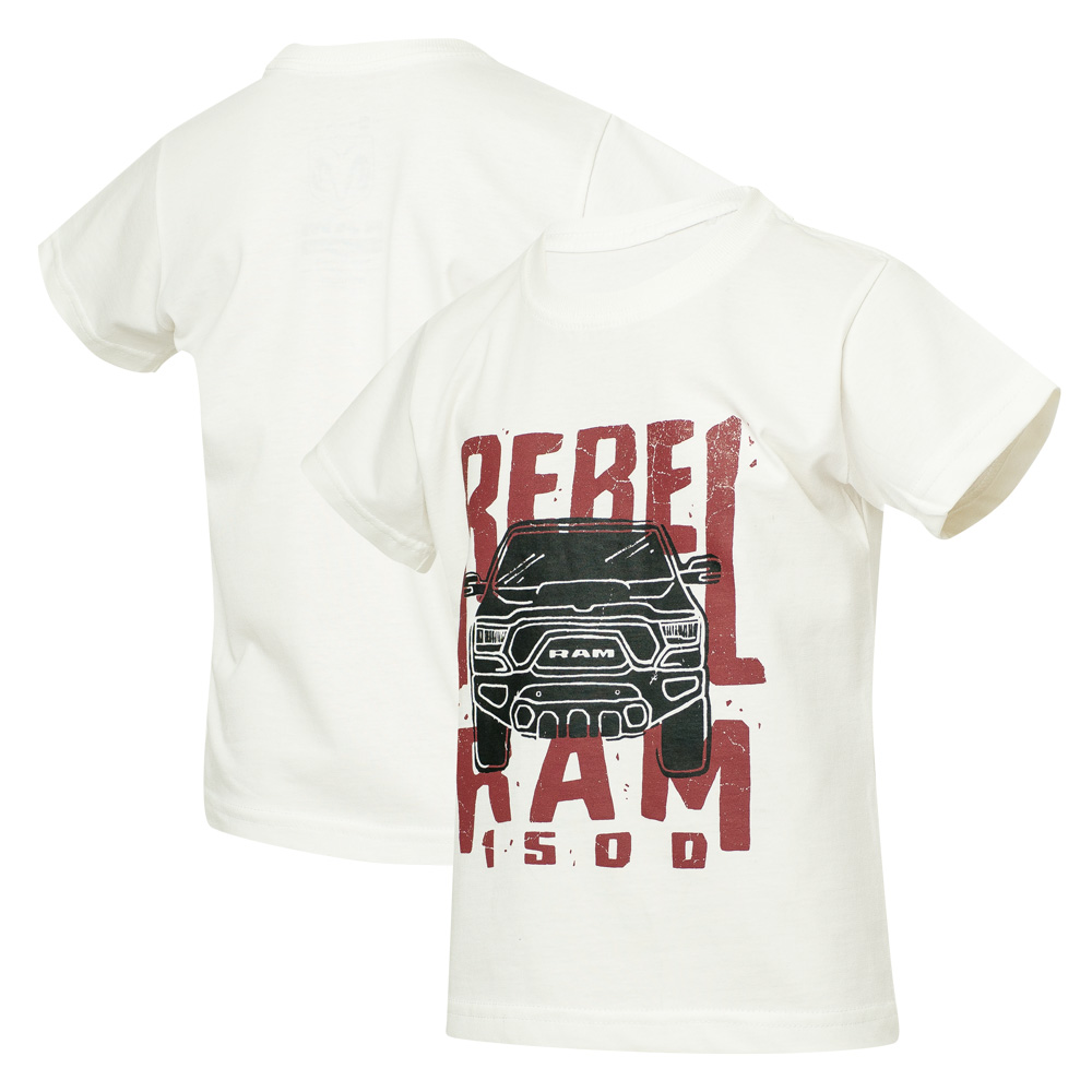 Camiseta Inf. RAM Rebel Trembling - Off White