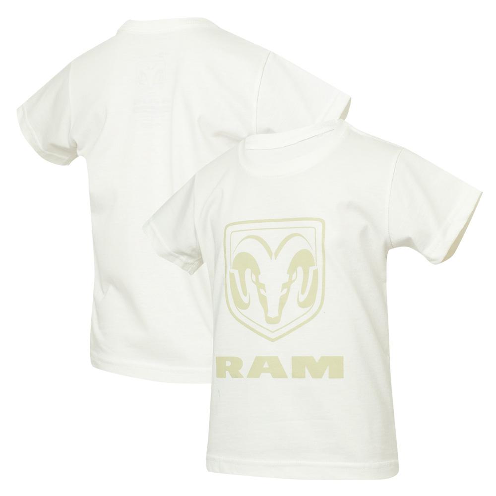Camiseta Inf. RAM Standard Logo - Off White