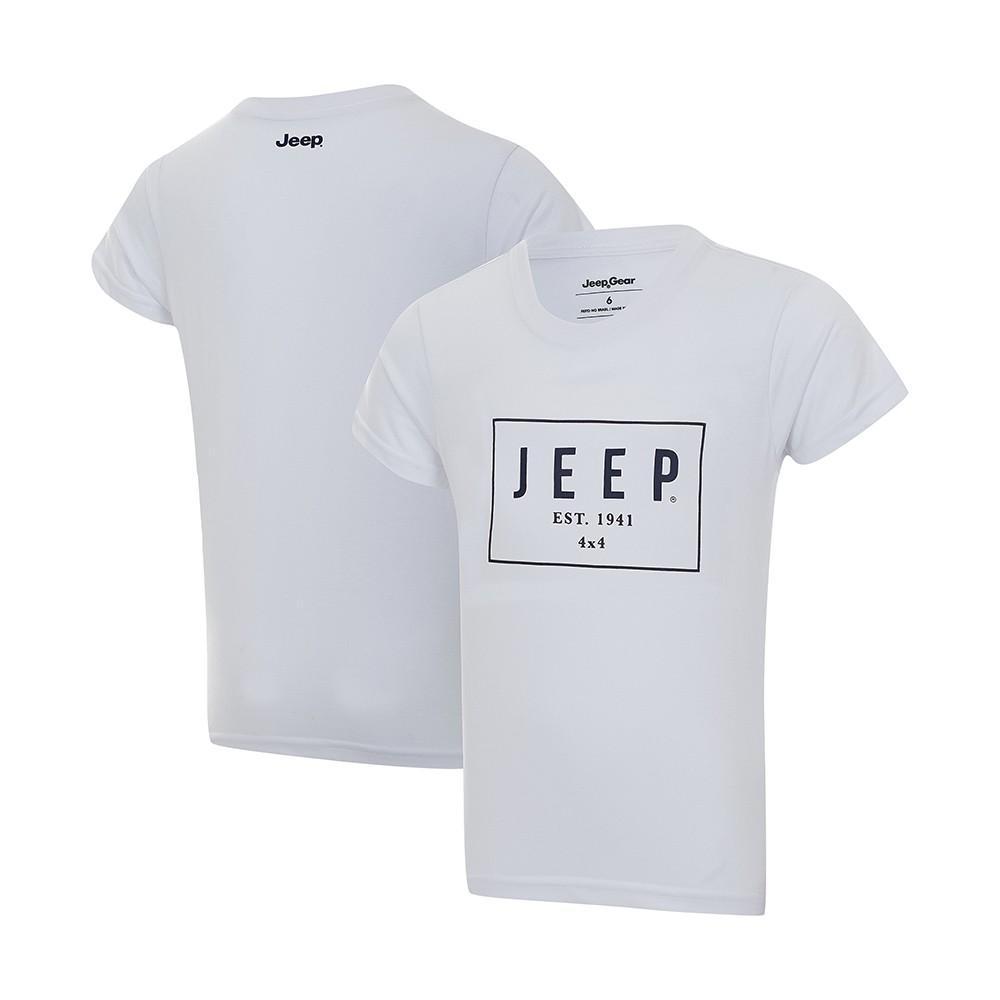 Camiseta Infantil JEEP Box - Branca