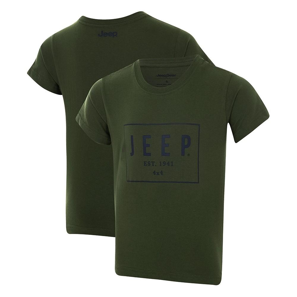 Camiseta Infantil JEEP Box - Verde