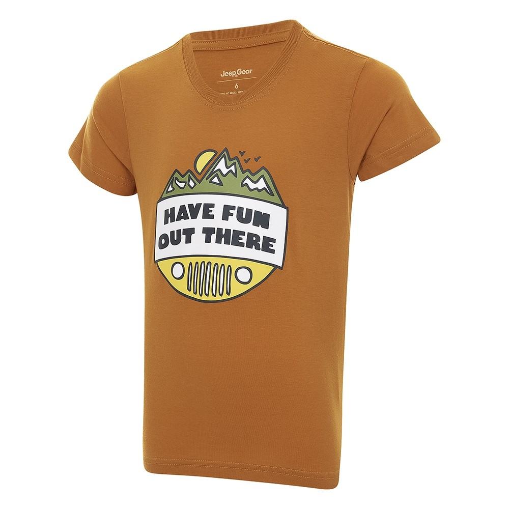 Camiseta Infantil JEEP Have Fun - Caramelo