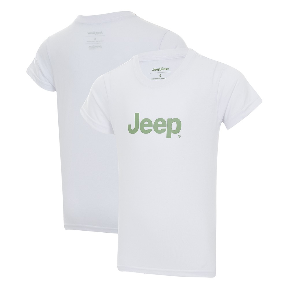 Camiseta Infantil JEEP Logo - Branca