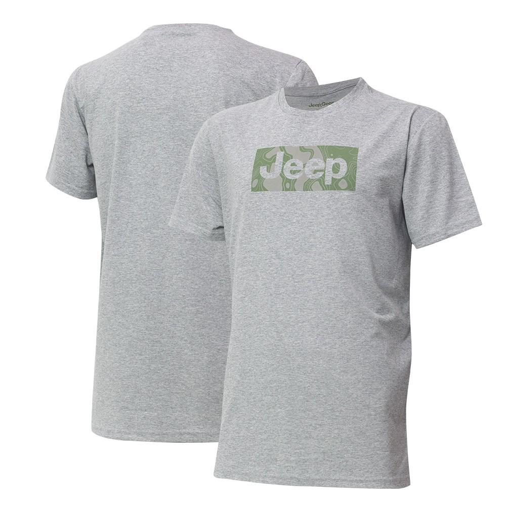 Camiseta JEEP Camuflada Mask - Cinza Mescla