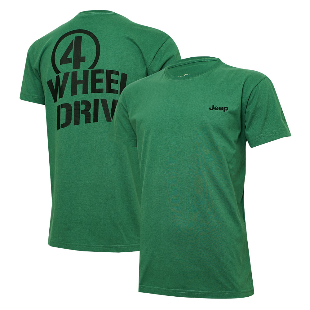 Camiseta Masc. Jeep Limited Edition Willys 4WD- Verde