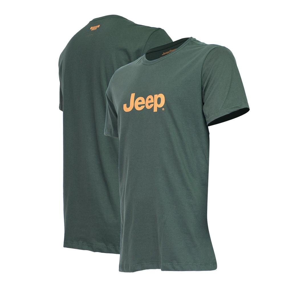 Camiseta Masc. JEEP Logo - Verde