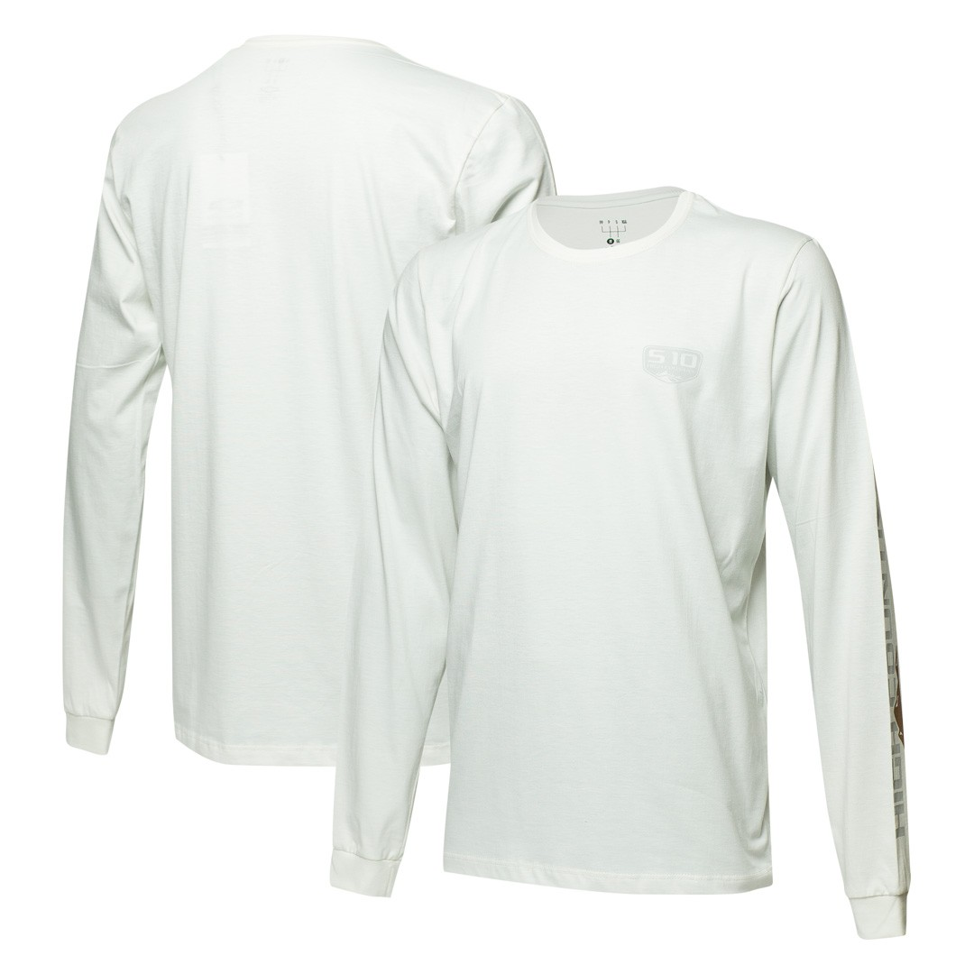 Camiseta Masc. Manga Longa Chevrolet S-10 - Branco