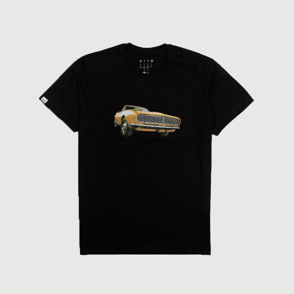 Camiseta Masc. DTG Chevrolet Camaro Muscle - Preto
