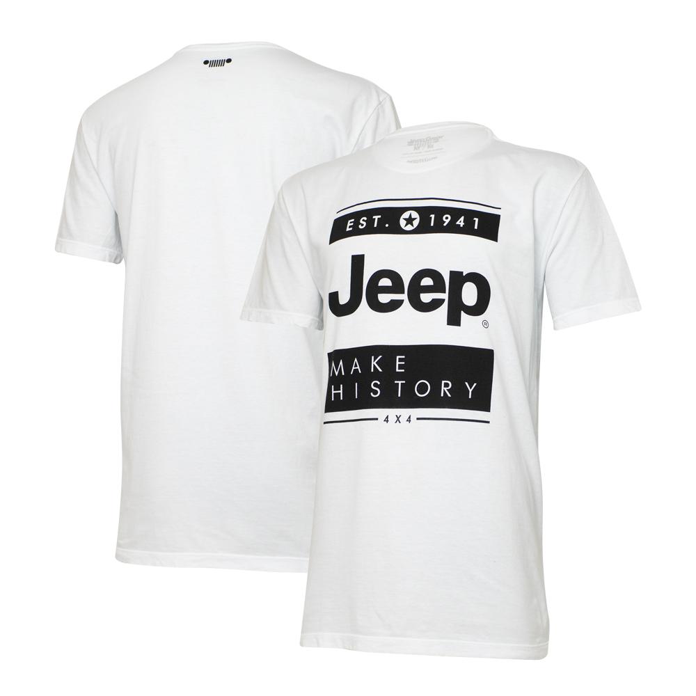 Camiseta Masc. Especial JEEP Block - Branca