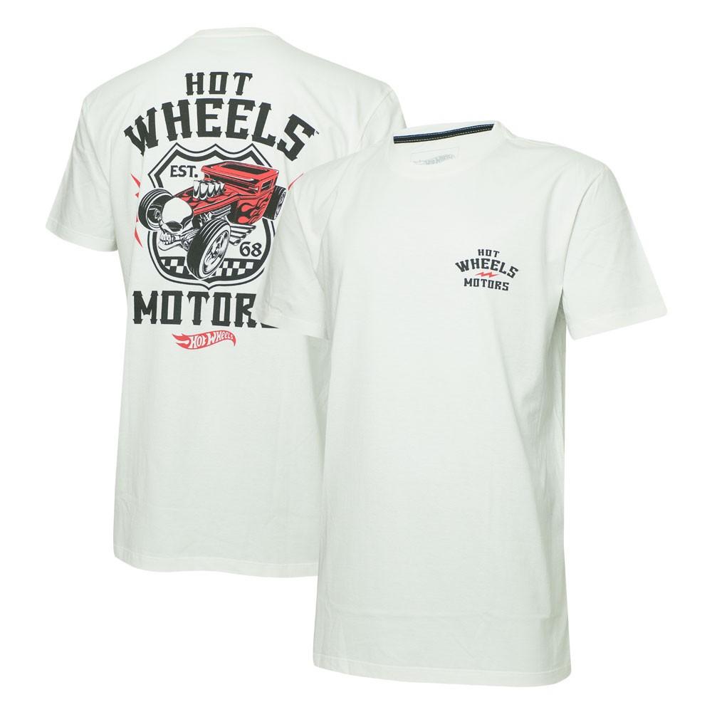 Camiseta Masc. Hot Wheels Motors - Off White
