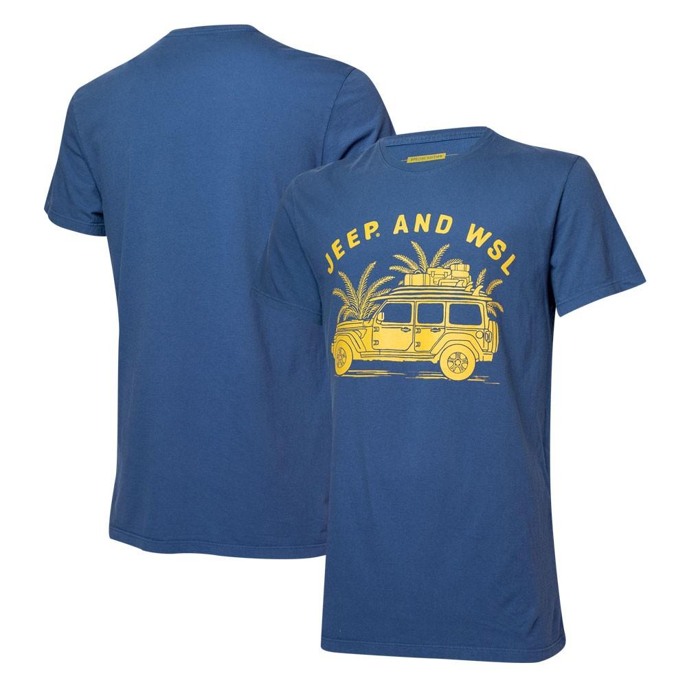 Camiseta Masc. JEEP I WSL Beach Wrangler - Azul Marinho