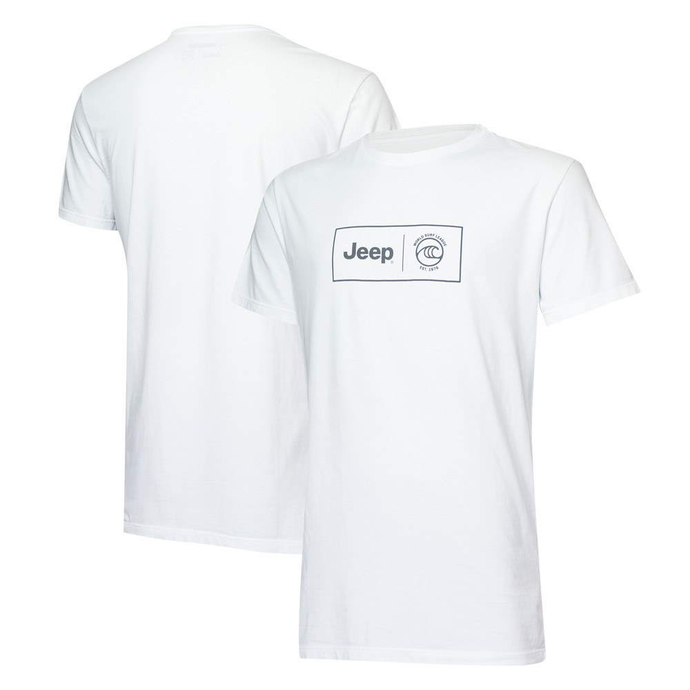 Camiseta Masc. JEEP I WSL Box Collab - Branca