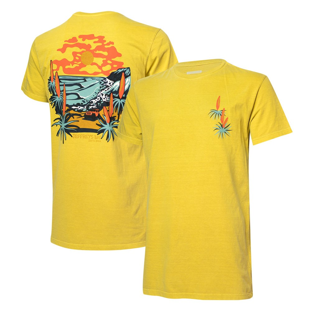 Camiseta Masc. JEEP I WSL Jeffreys Bay - Amarela