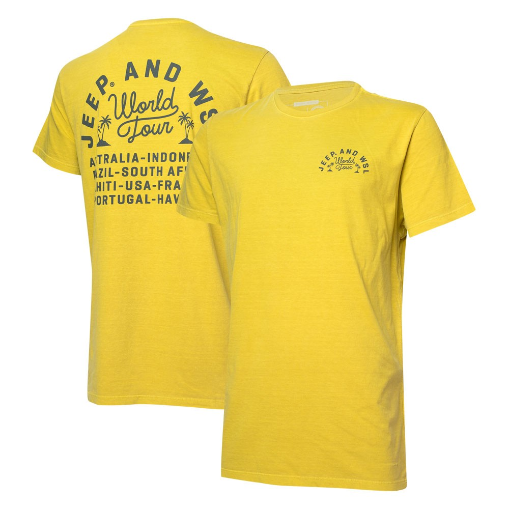 Camiseta Masc. JEEP I WSL World Tour - Amarela
