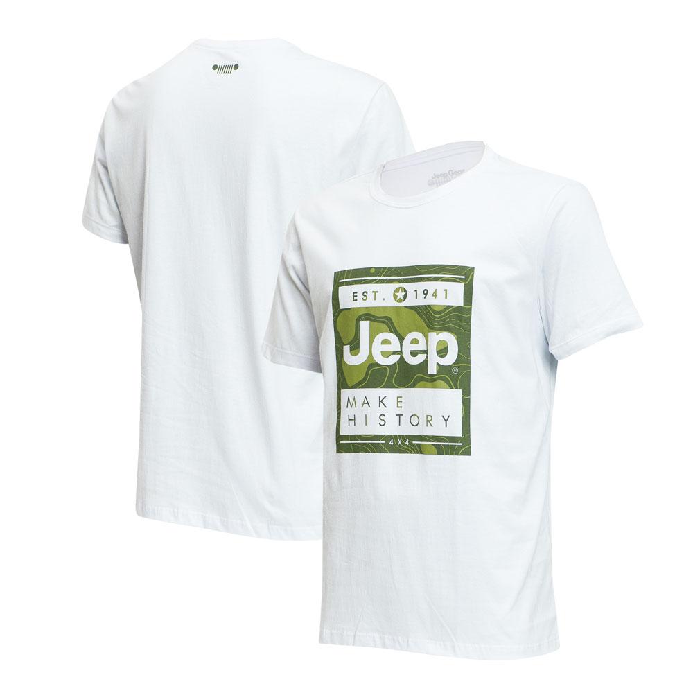 Camiseta Masc. JEEP Map - Branca