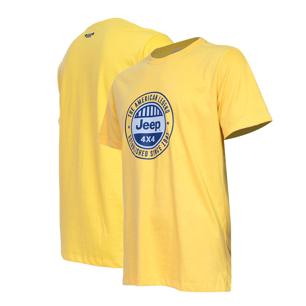 Camiseta Masc. JEEP Round - Amarelo