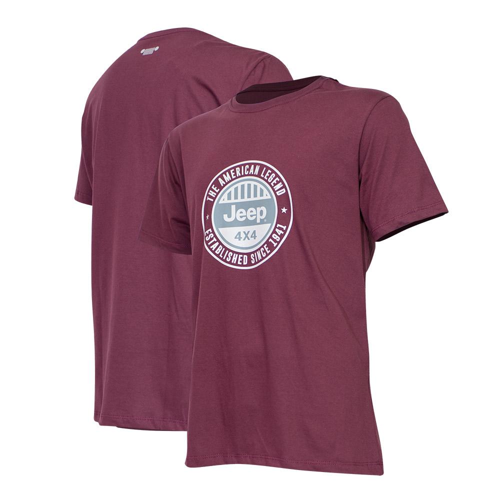Camiseta Masc. JEEP Round - Vinho