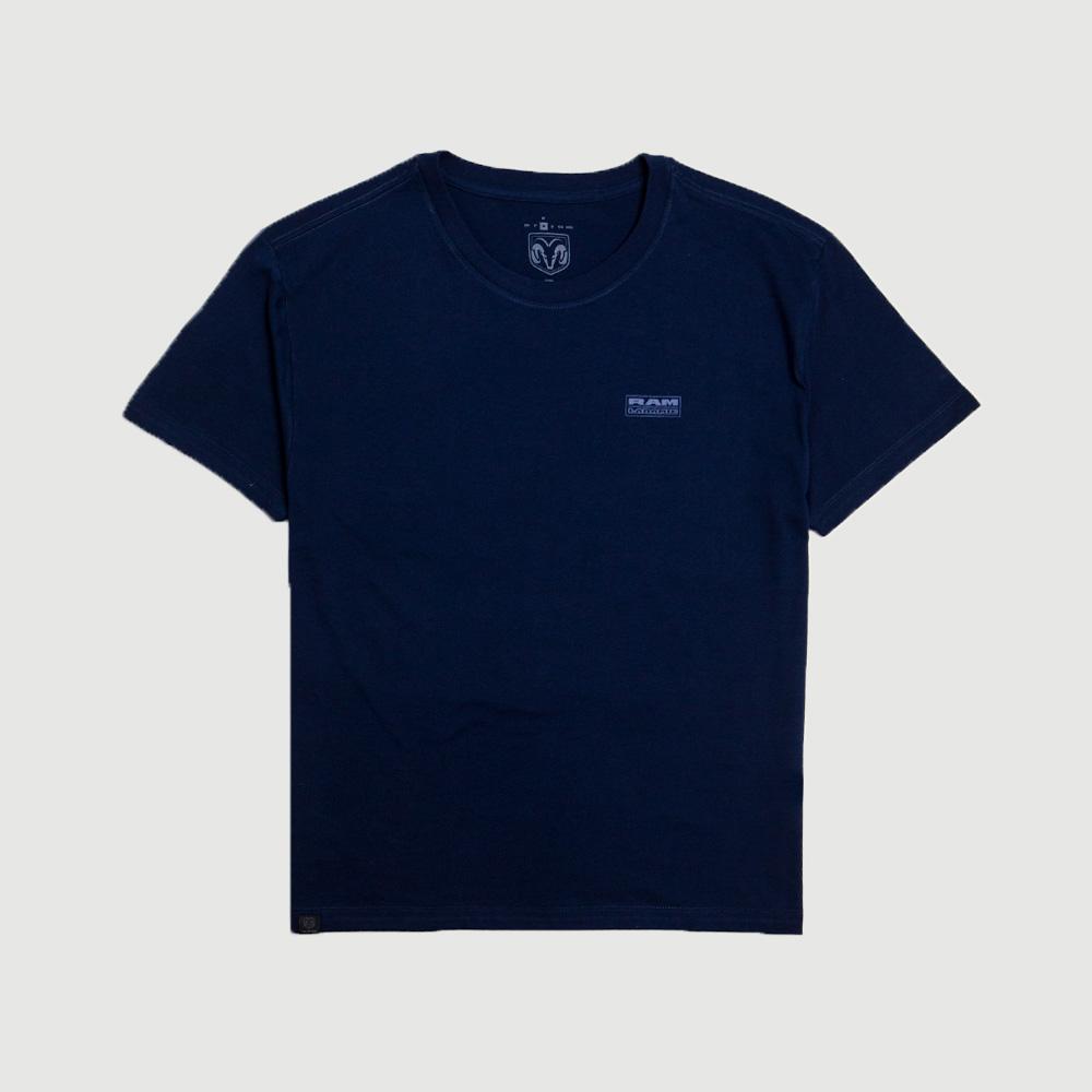 Camiseta Masculina RAM Laramie Badge - Azul Marinho