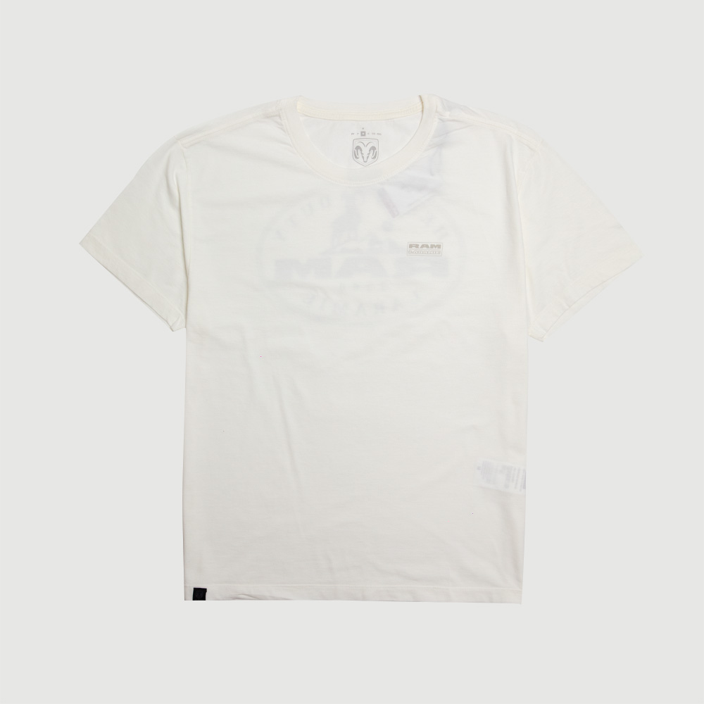 Camiseta Masculina RAM Laramie Badge - Off White
