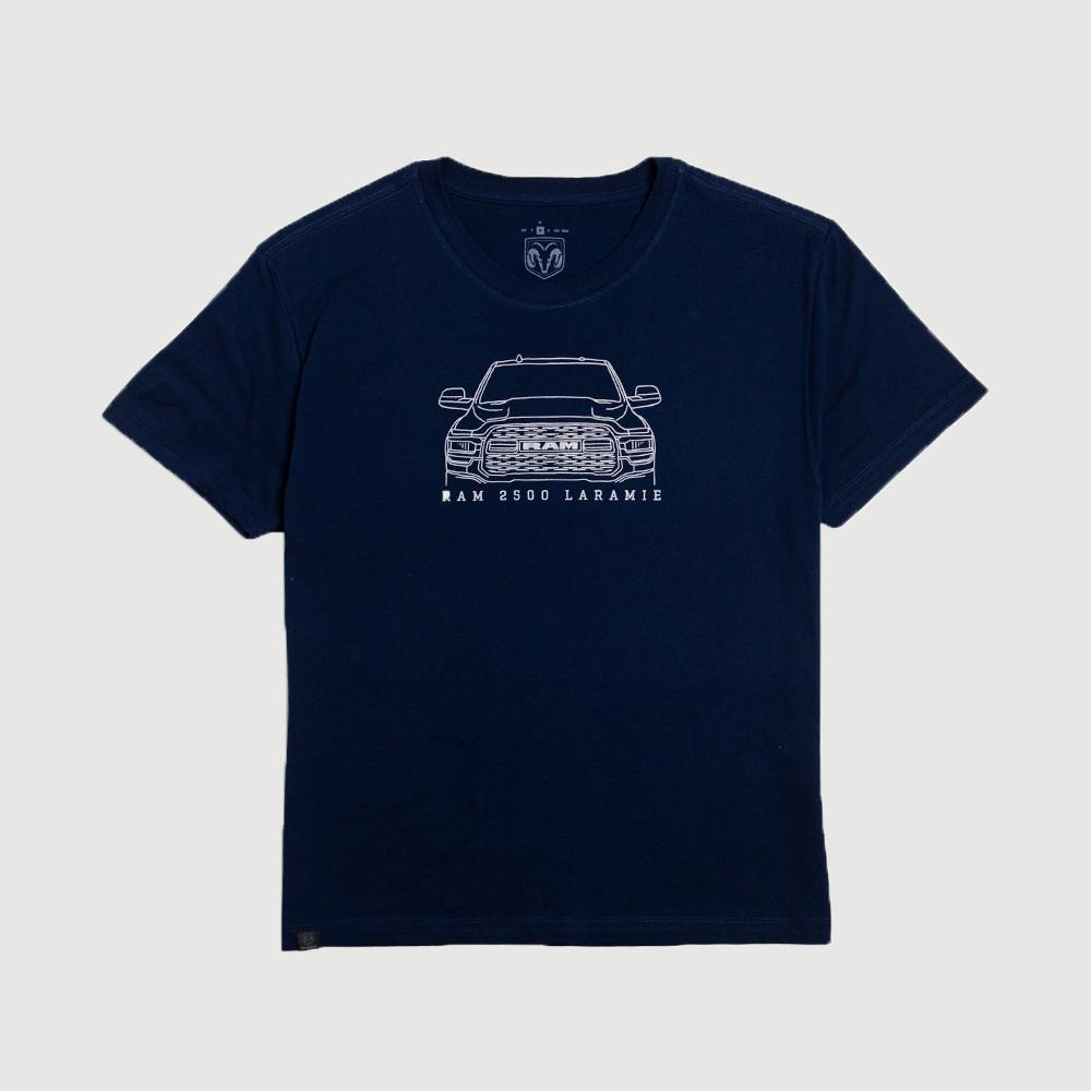 Camiseta Masculina RAM Laramie Front - Azul Marinho