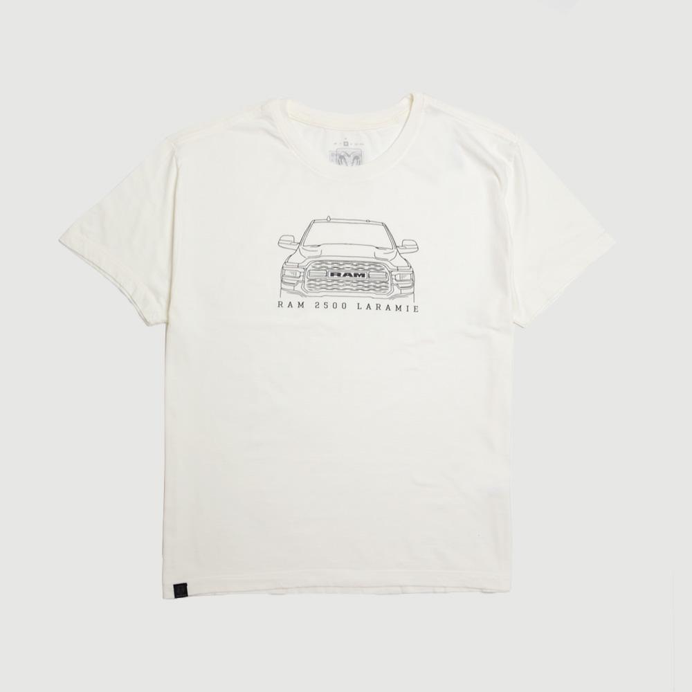 Camiseta Masculina RAM Laramie Front - Off White
