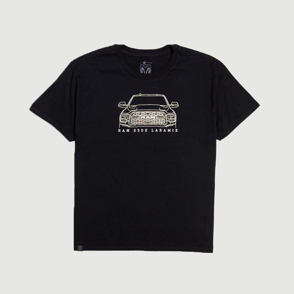 Camiseta Masculina RAM Laramie Front - Preta