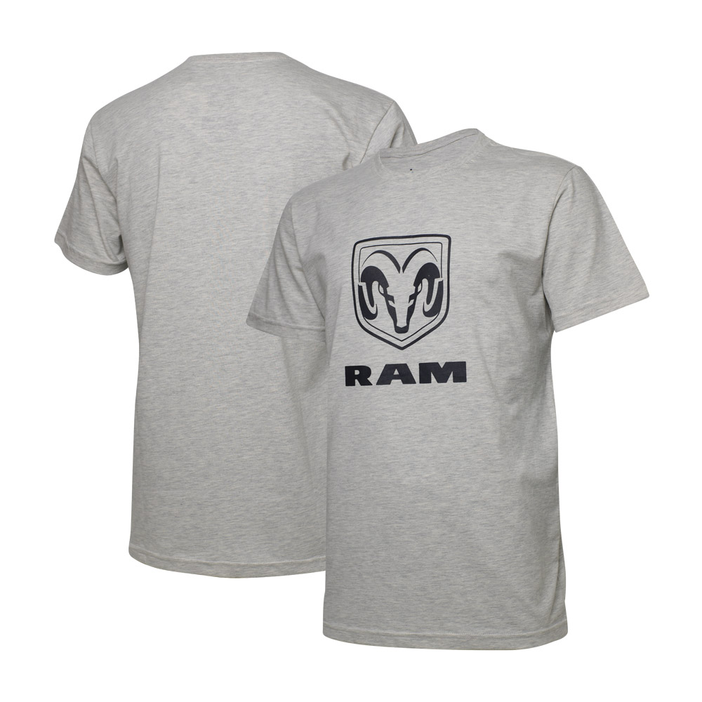Camiseta Masculina RAM Standard - Cinza Mescla