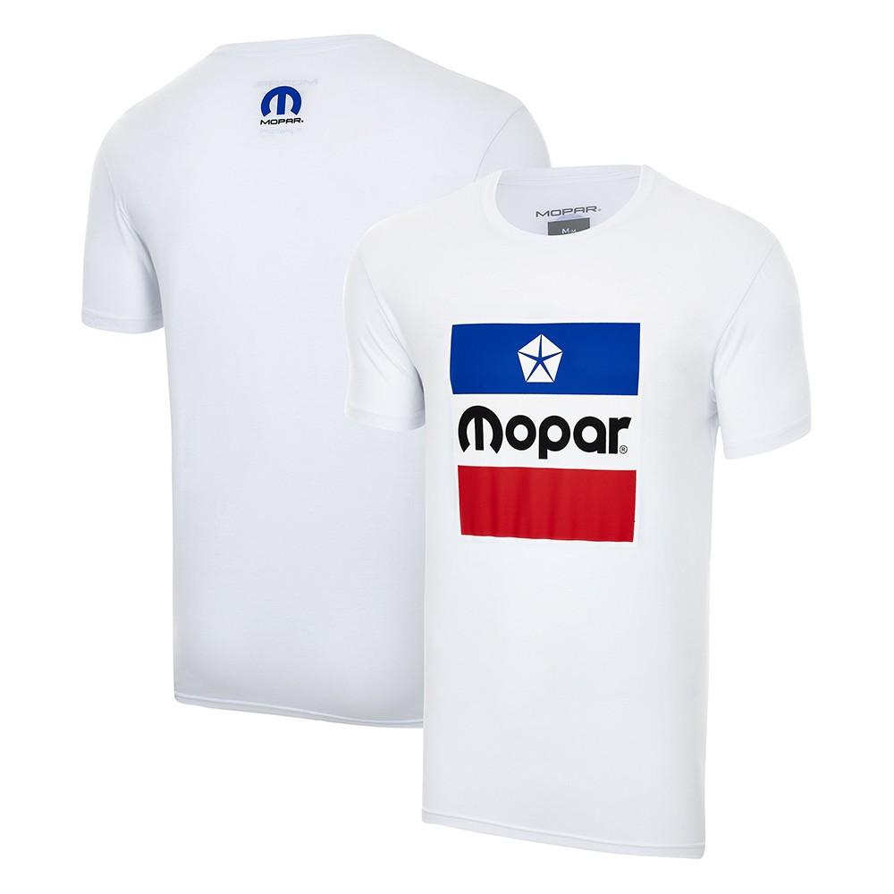 Camiseta MOPAR Logo Vintage - Branca