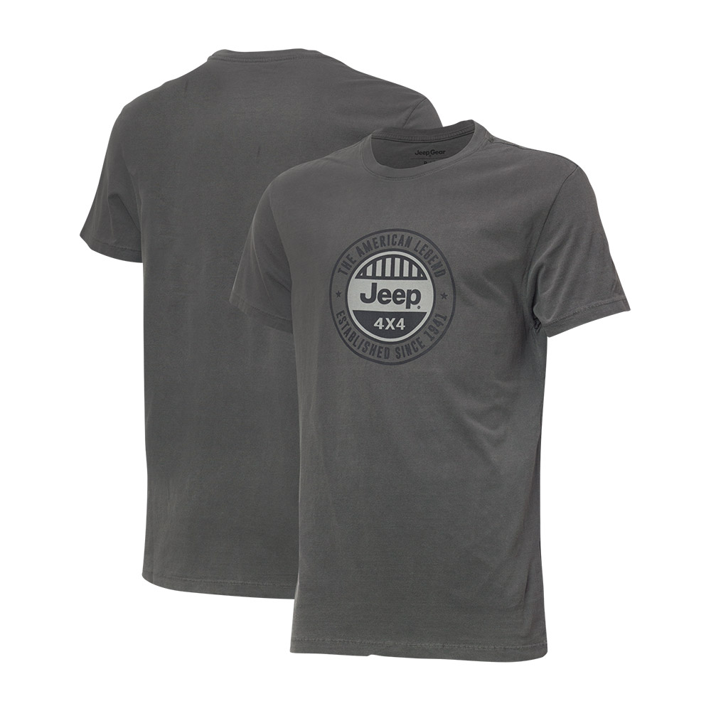 Camiseta Masc. Premium JEEP Lavada Estonada Round - Preta