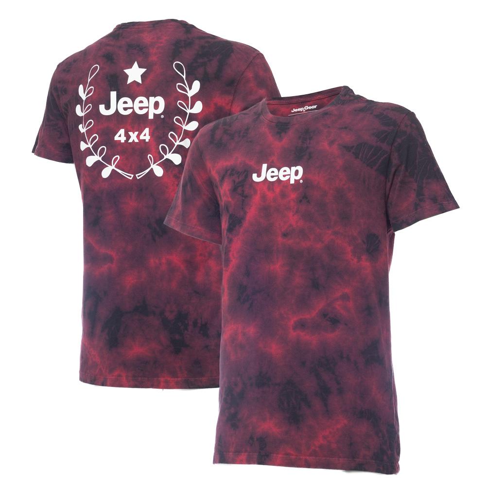 Camiseta Masc. Premium JEEP Lavada TieDye Prize - Vermelho
