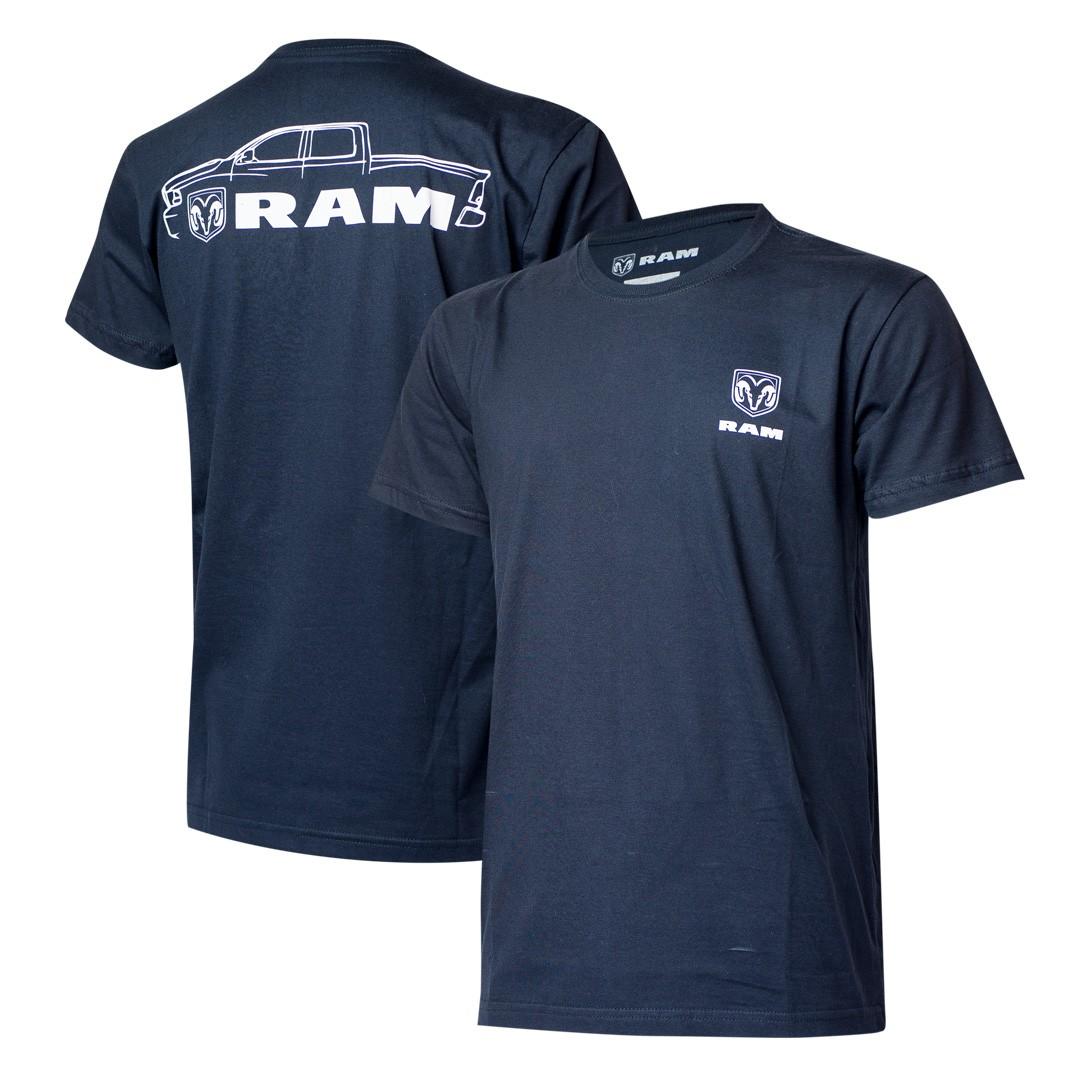 Camiseta Masculina RAM DTG Pickup - Azul Marinho