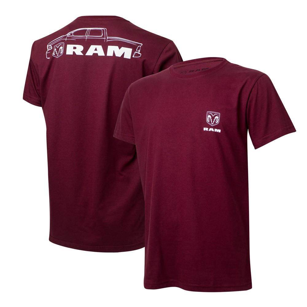 Camiseta Masculina RAM DTG Pickup - Vinho