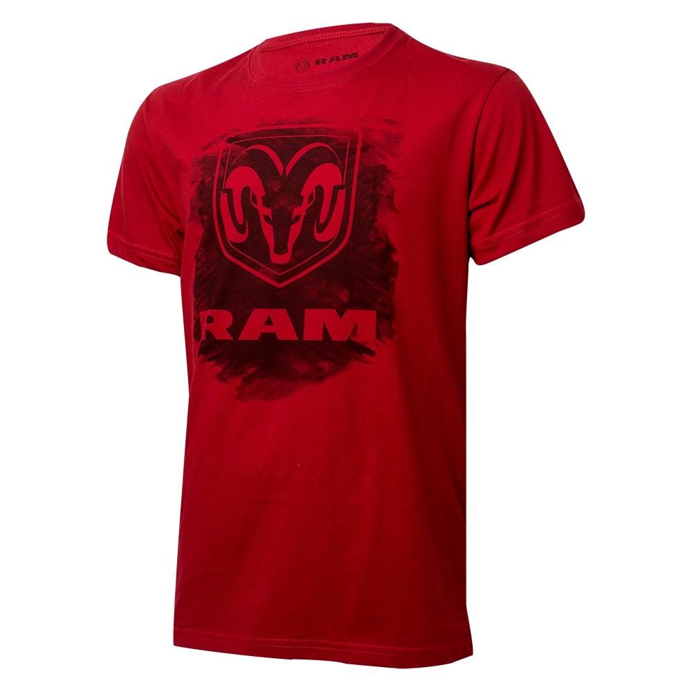 Camiseta Masculina RAM DTG Press - Vermelho